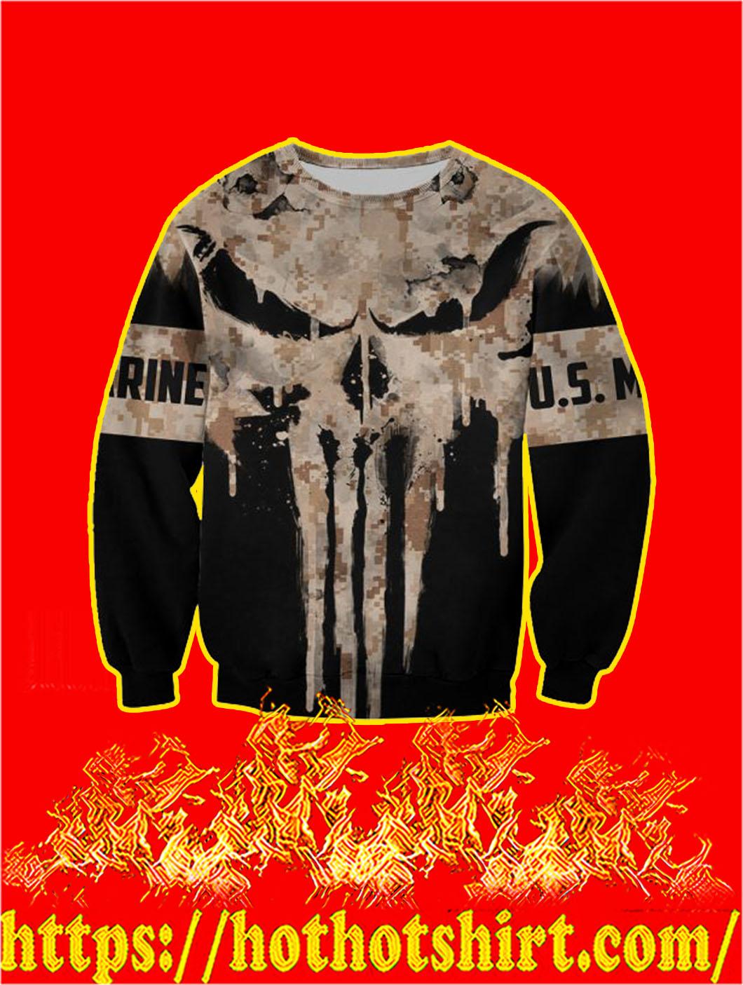 U.S Marine Punisher Skull 3D Printed Sweatshirt