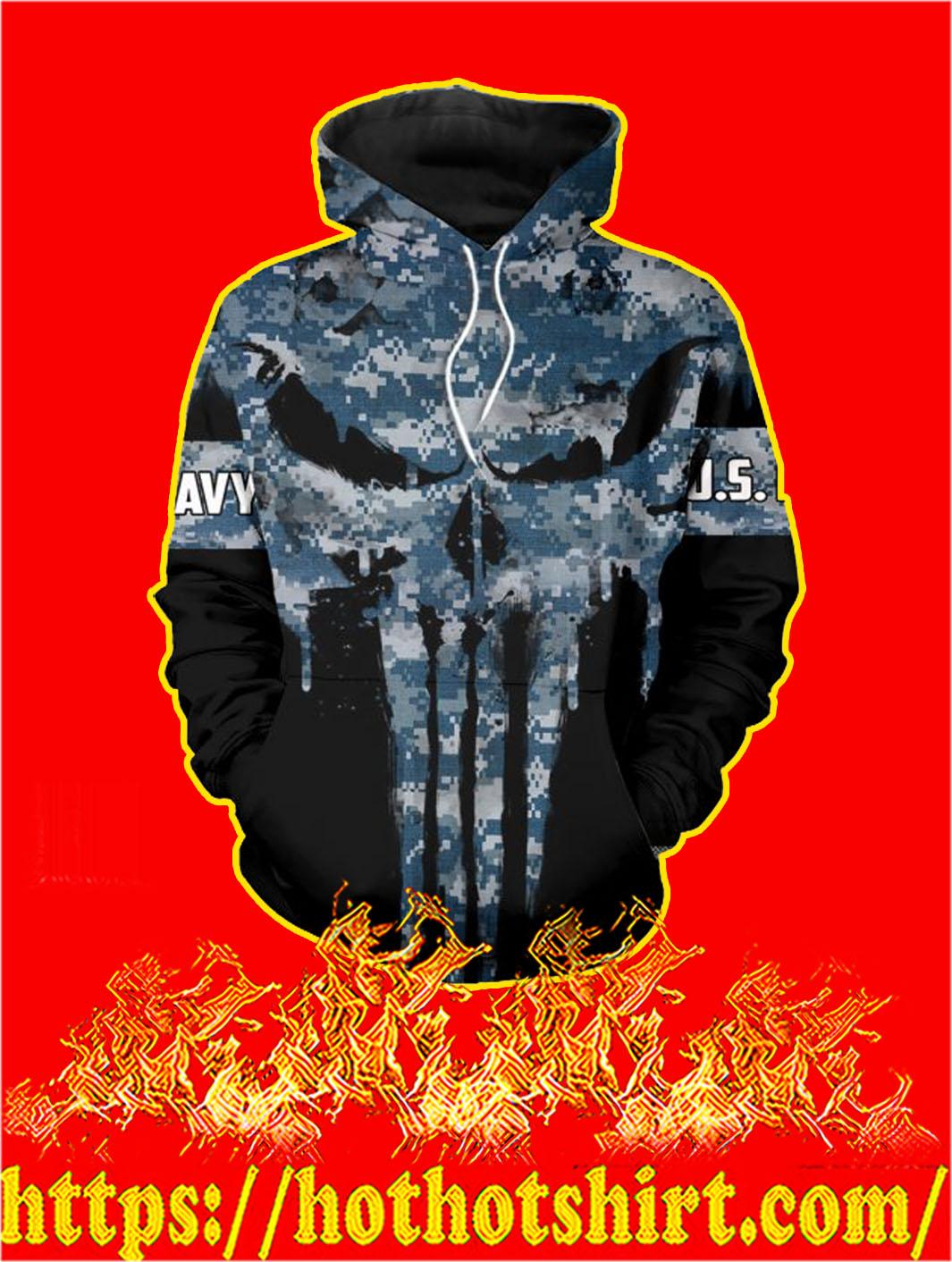 U.S Navy Punisher Skull 3D Printed Hoodie