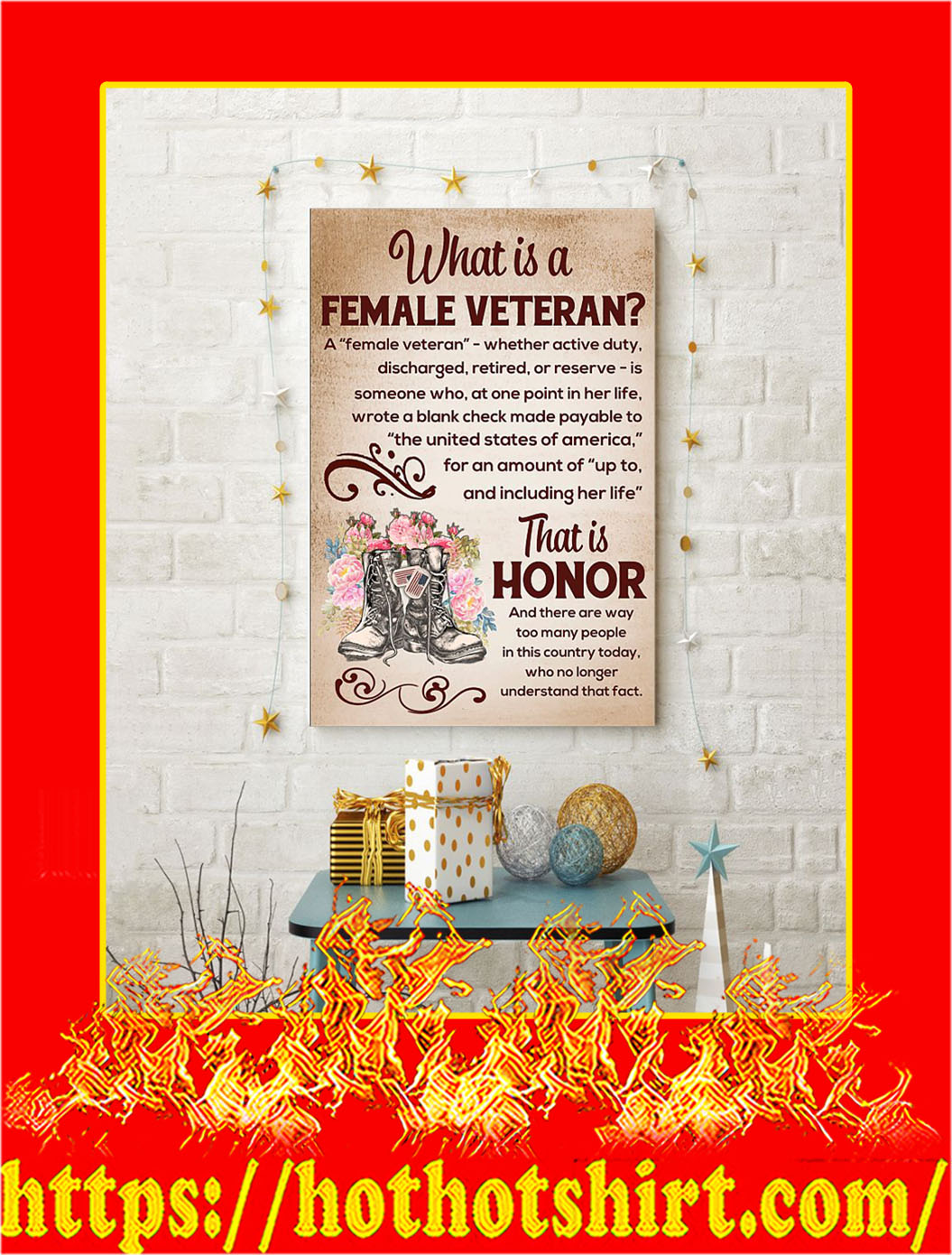 What Is A Female Veteran Poster- A2