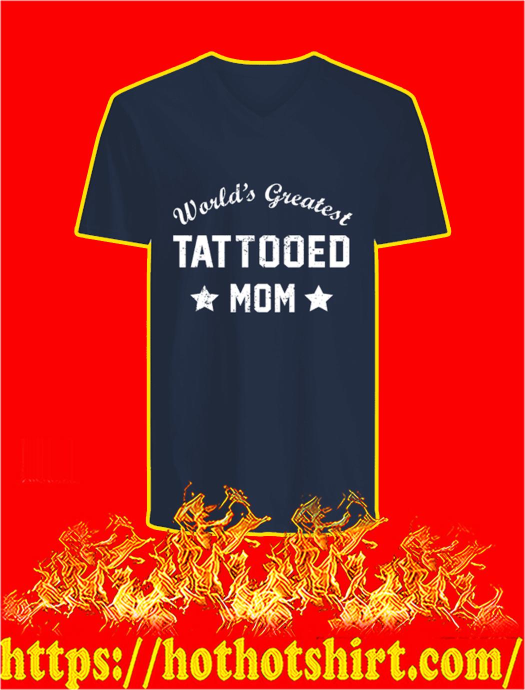 World's Greatest Tattooed Mom v-neck