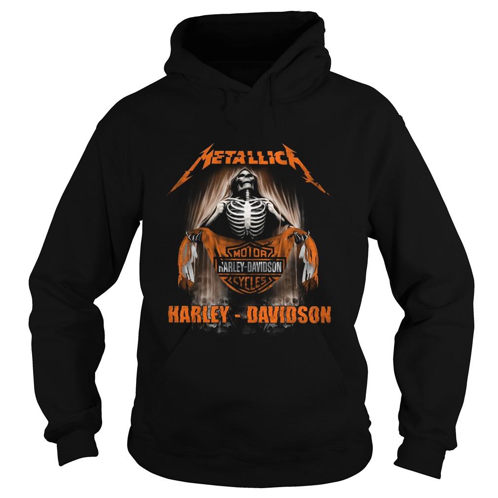 Metallica Harley Davidson Skull Hoodie