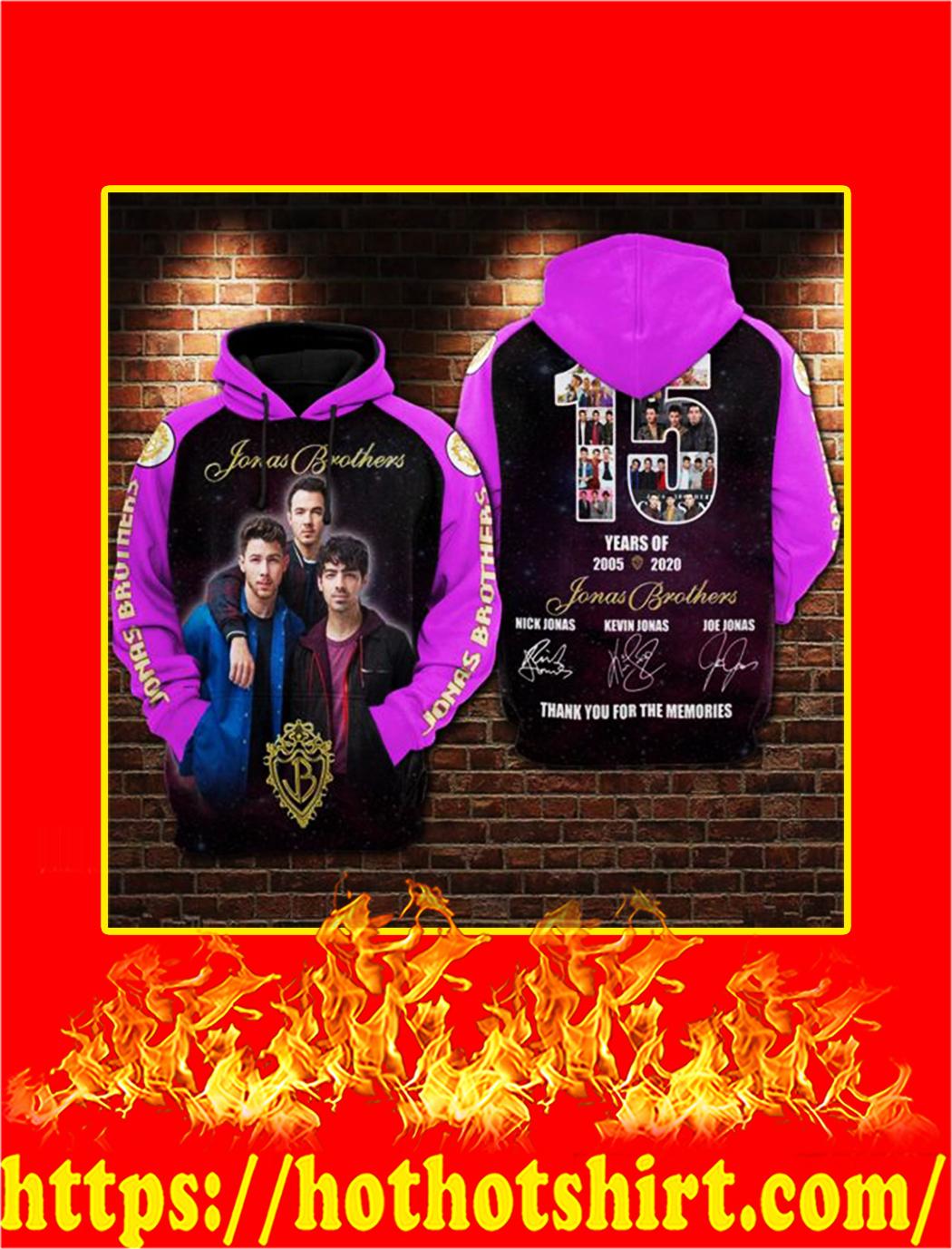 15 years of Jonas Brothers 3D Hoodie - L