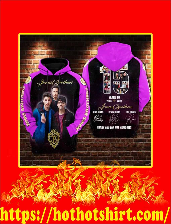 15 years of Jonas Brothers 3D Hoodie - S
