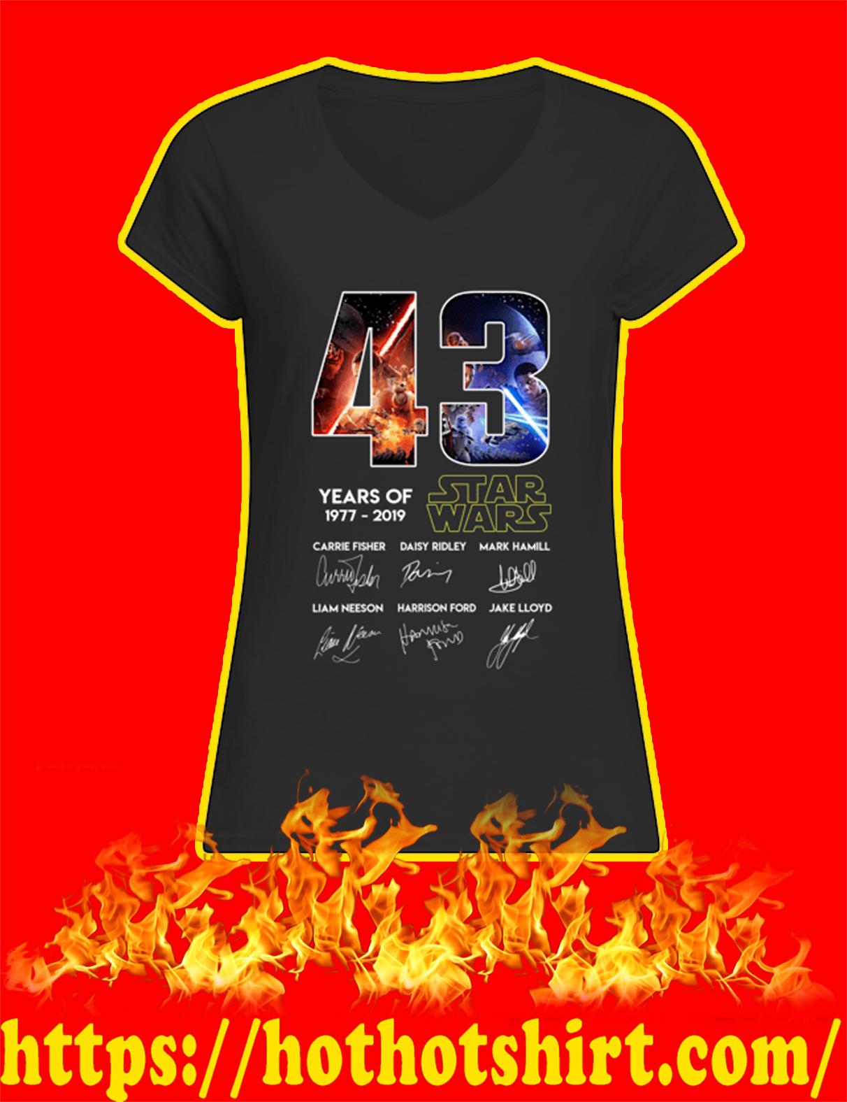 43 Years Of Star Wars 1977 2019 Women V-Neck