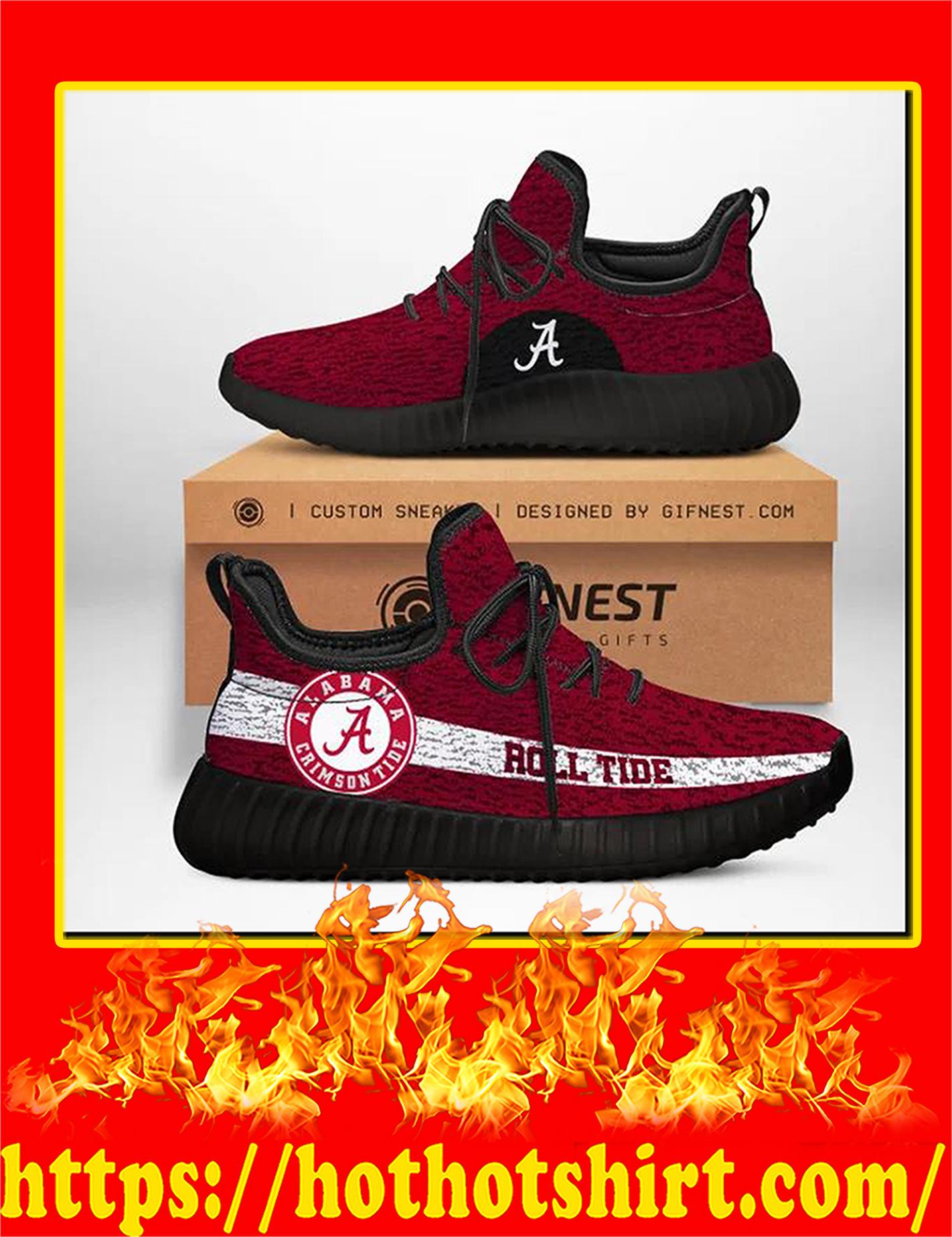 Alabama Crimson Tide Rool Tide NCAA Yeezy Sneaker - Woman