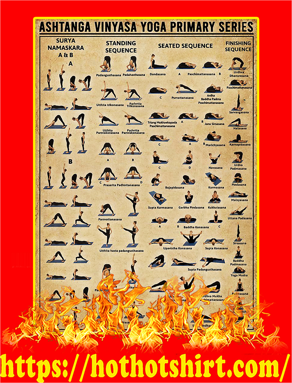Ashtanga Vinyasa Yoga Primary Series Poster