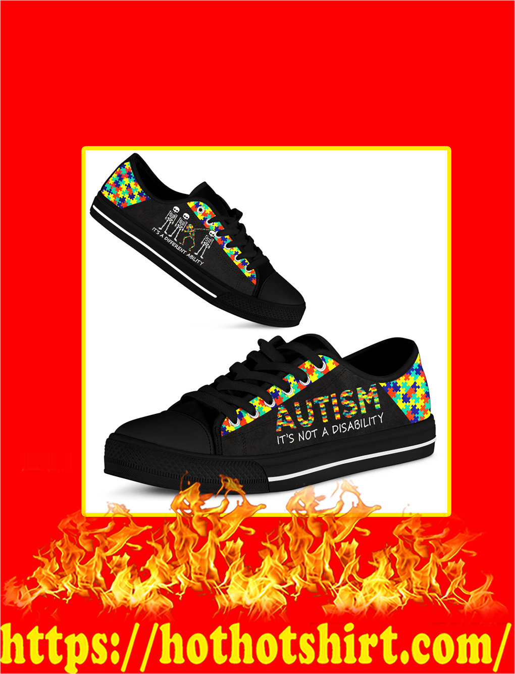 Autism It's Not A Disability Low Top