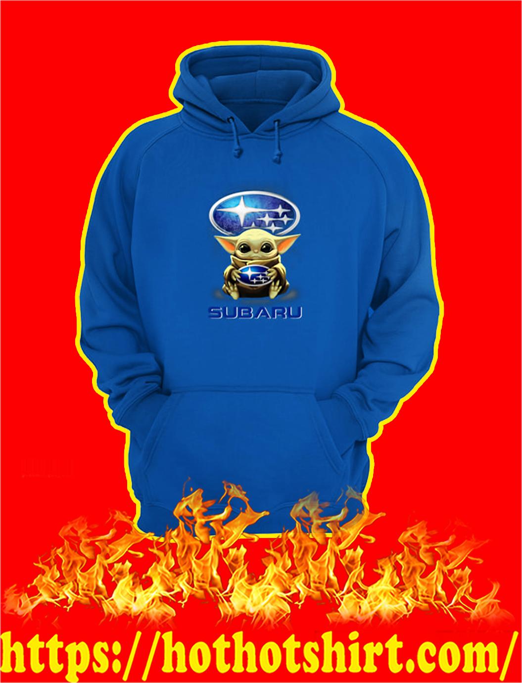 Baby Yoda Hug Subaru hoodie