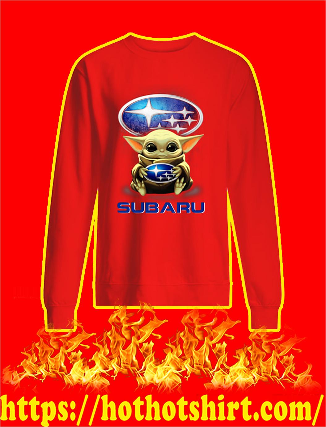 Baby Yoda Hug Subaru sweatshirt