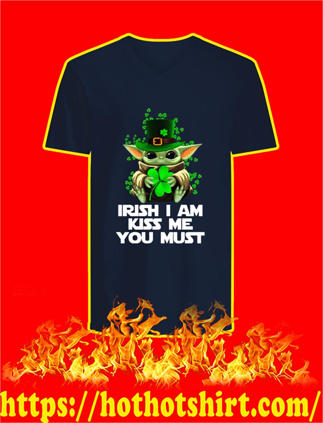 Baby Yoda Irish I Am Kiss Me You Must v-neck