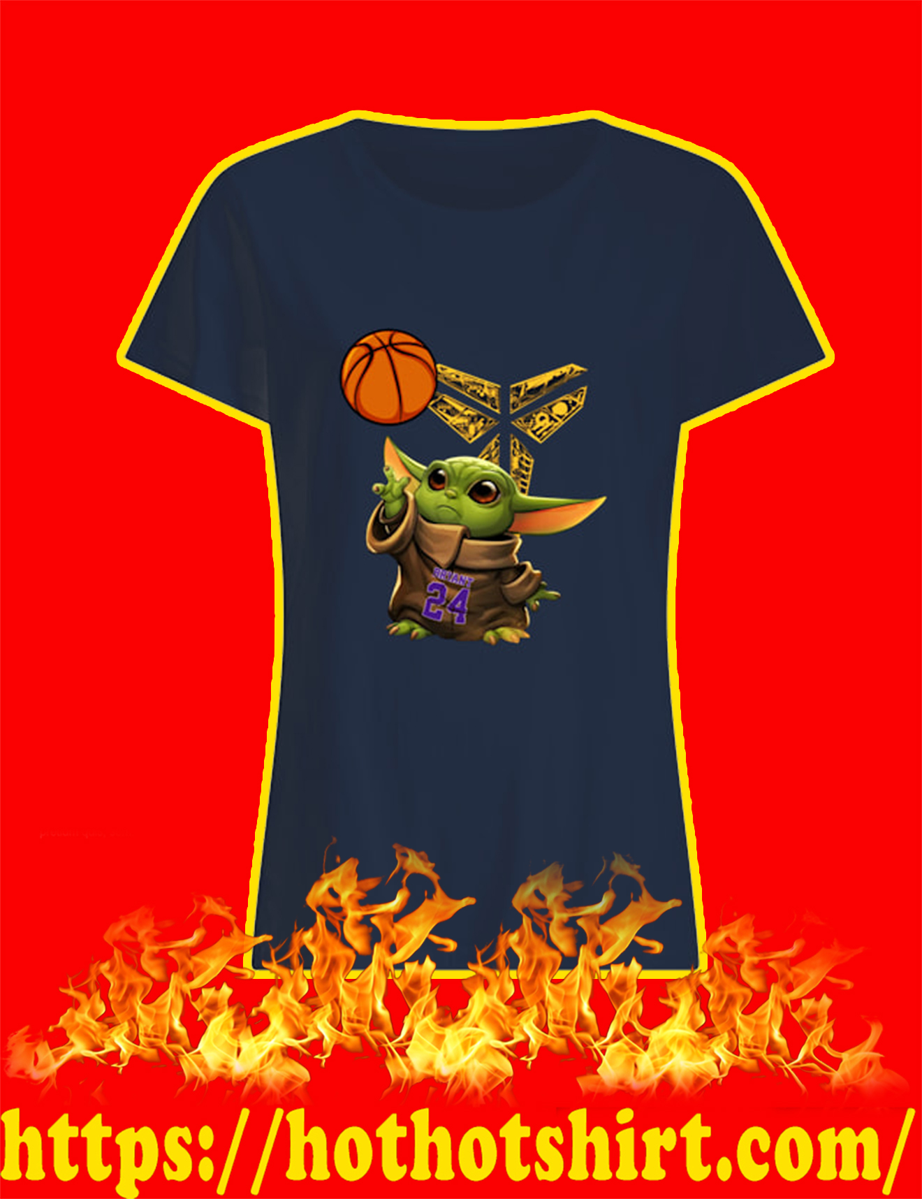 Baby Yoda Kobe Bryant Women Shirt