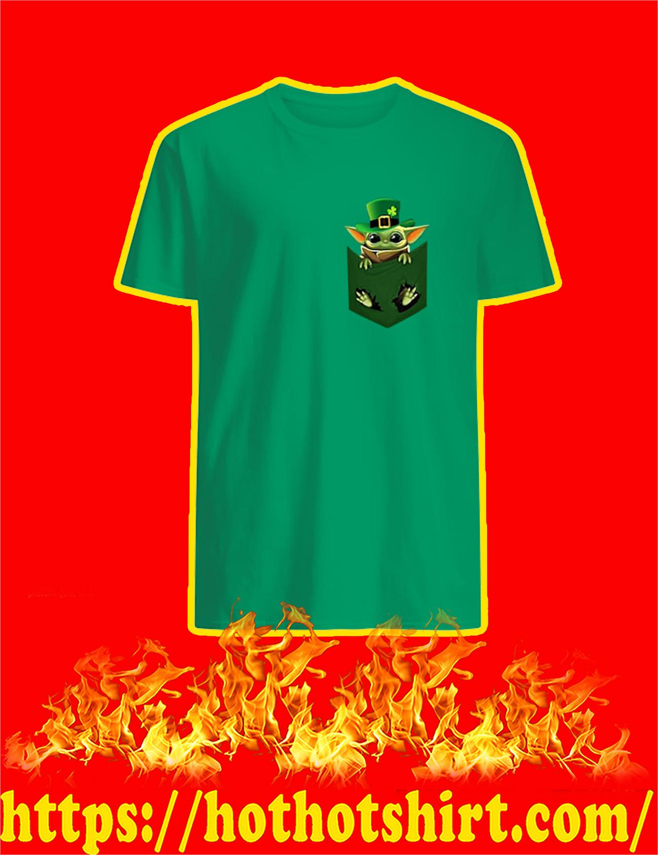 Baby Yoda Pocket St Patrick's Day Shirt