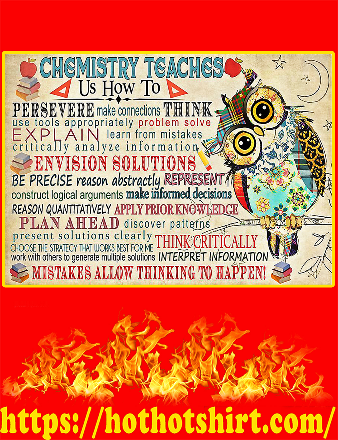 Chemistry Teaches Poster - A3
