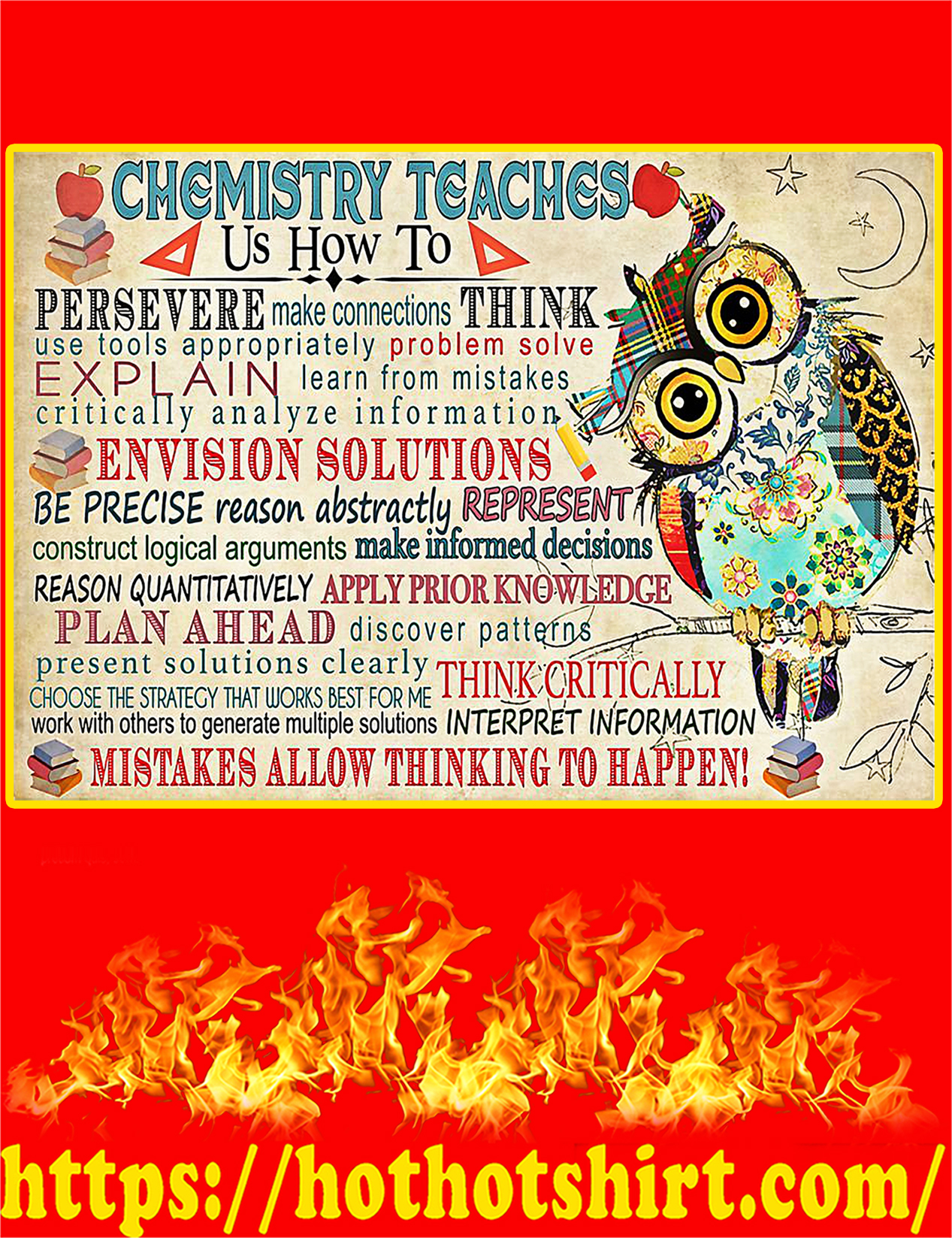 Chemistry Teaches Poster - A4