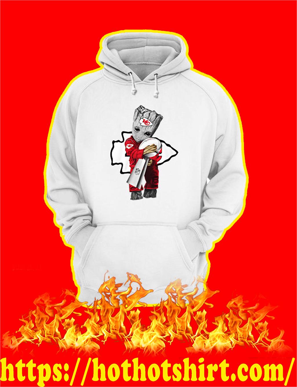Chiefs Groot Hug Vince Lombardi Trophy hoodie