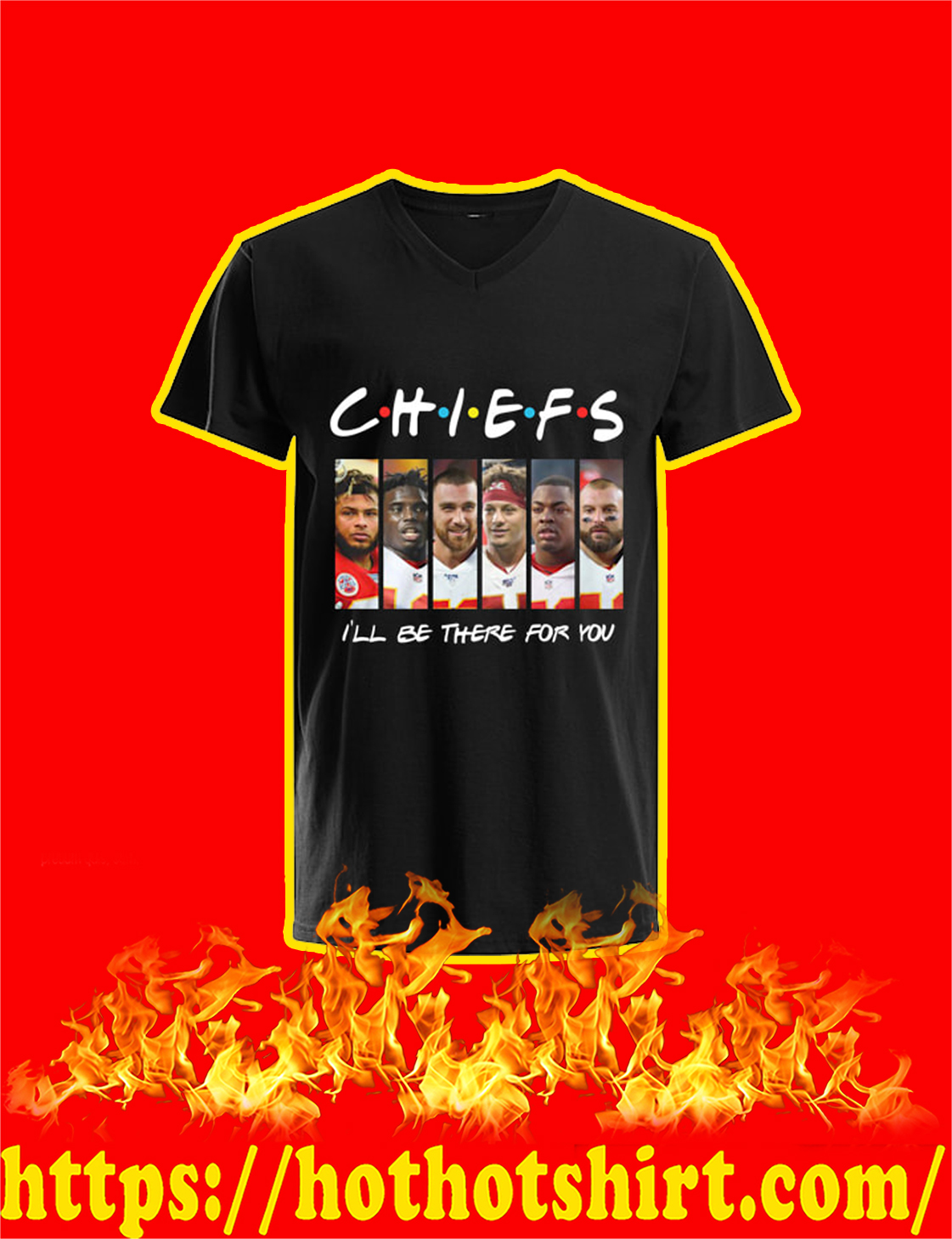 Chiefs I'll Be There For You V-Neck