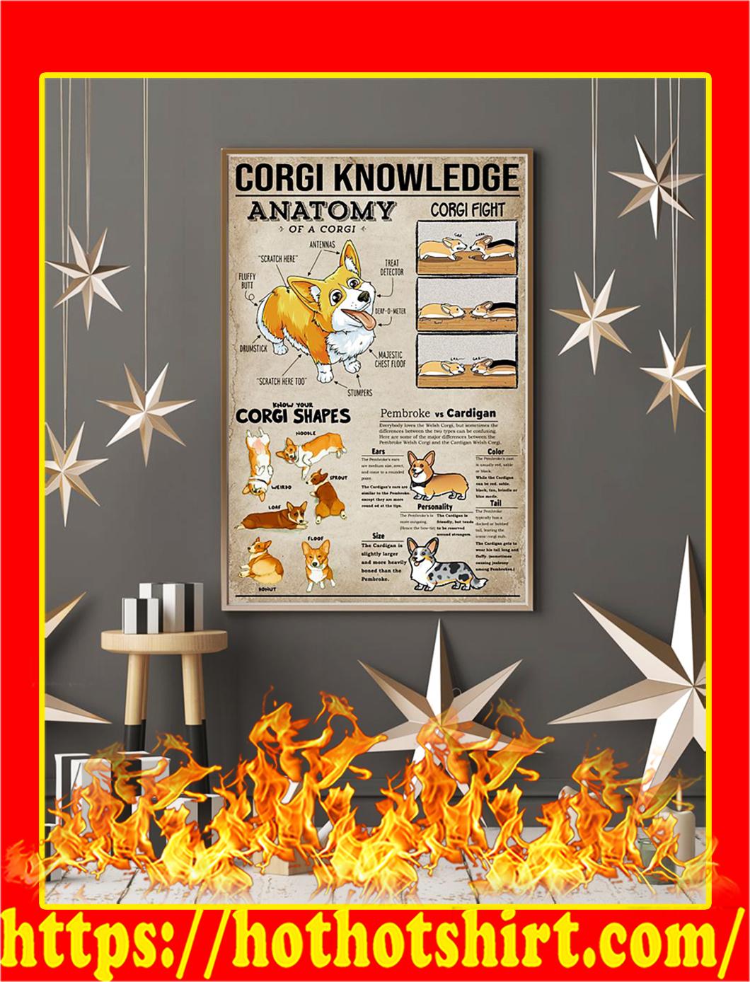 Corgi Knowledge Poster- A2