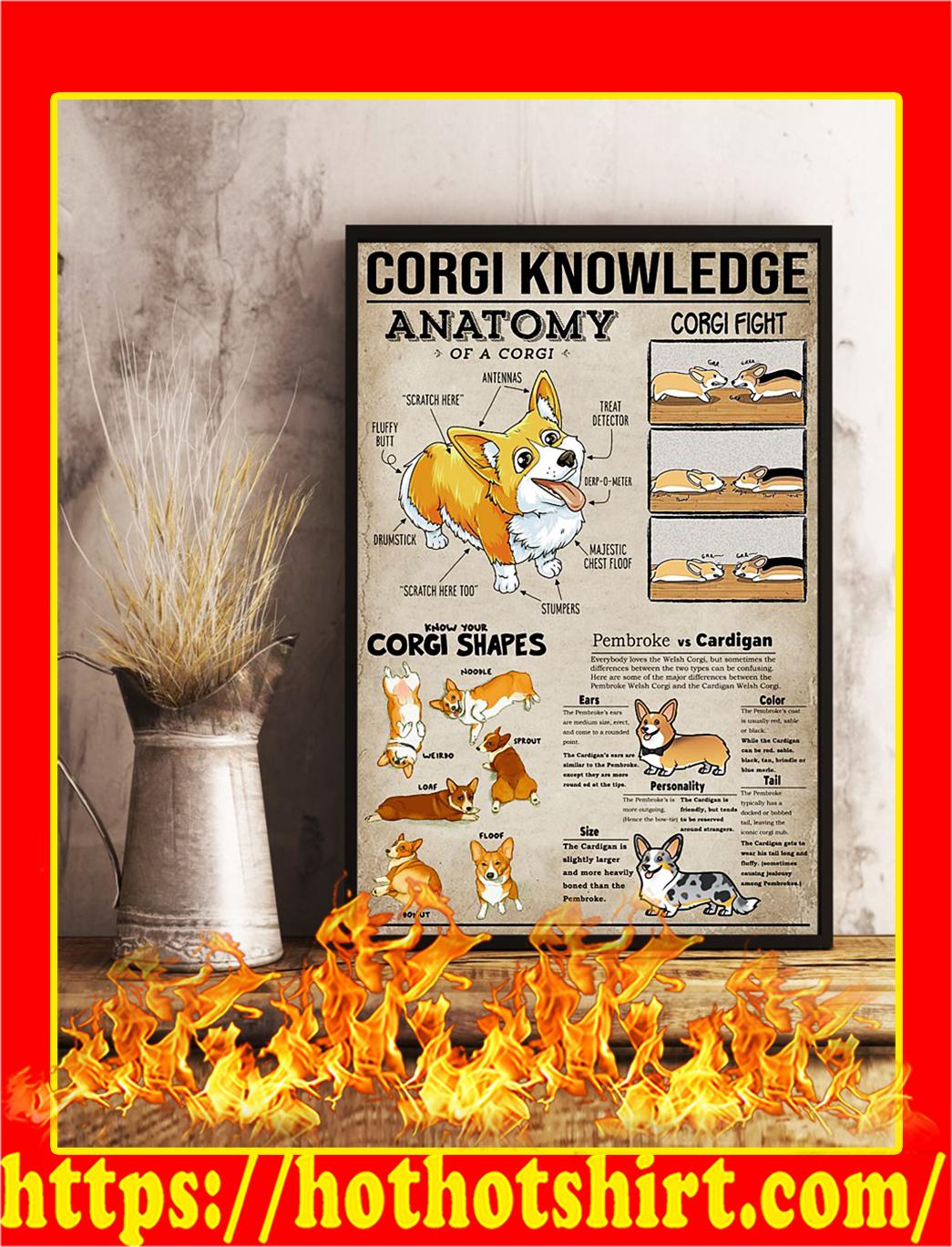 Corgi Knowledge Poster- A4