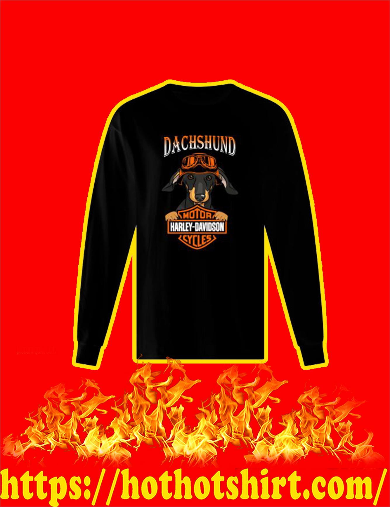 Dachshund Harley Davidson Motorcycles Long Sleeved Shirt