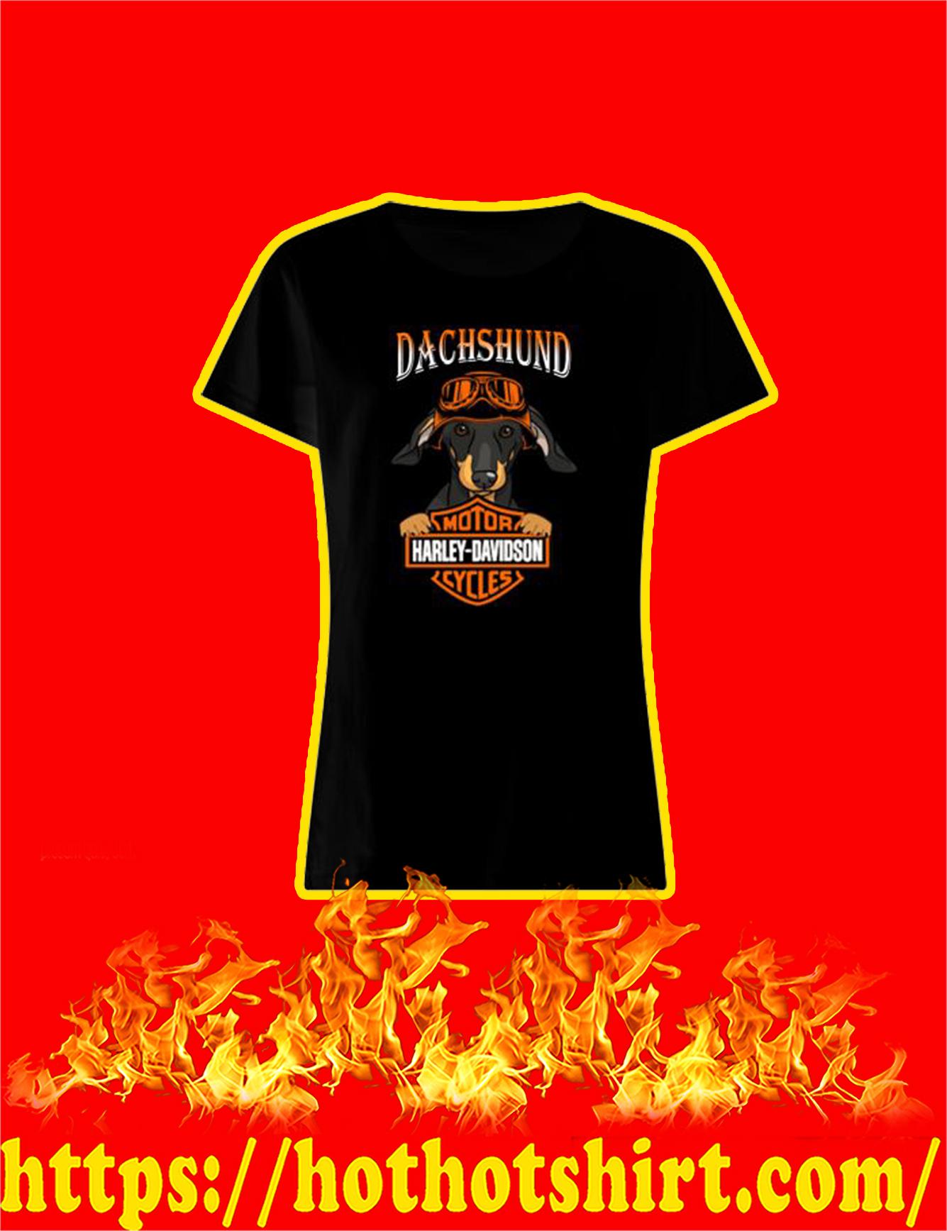 Dachshund Harley Davidson Motorcycles Women Shirt