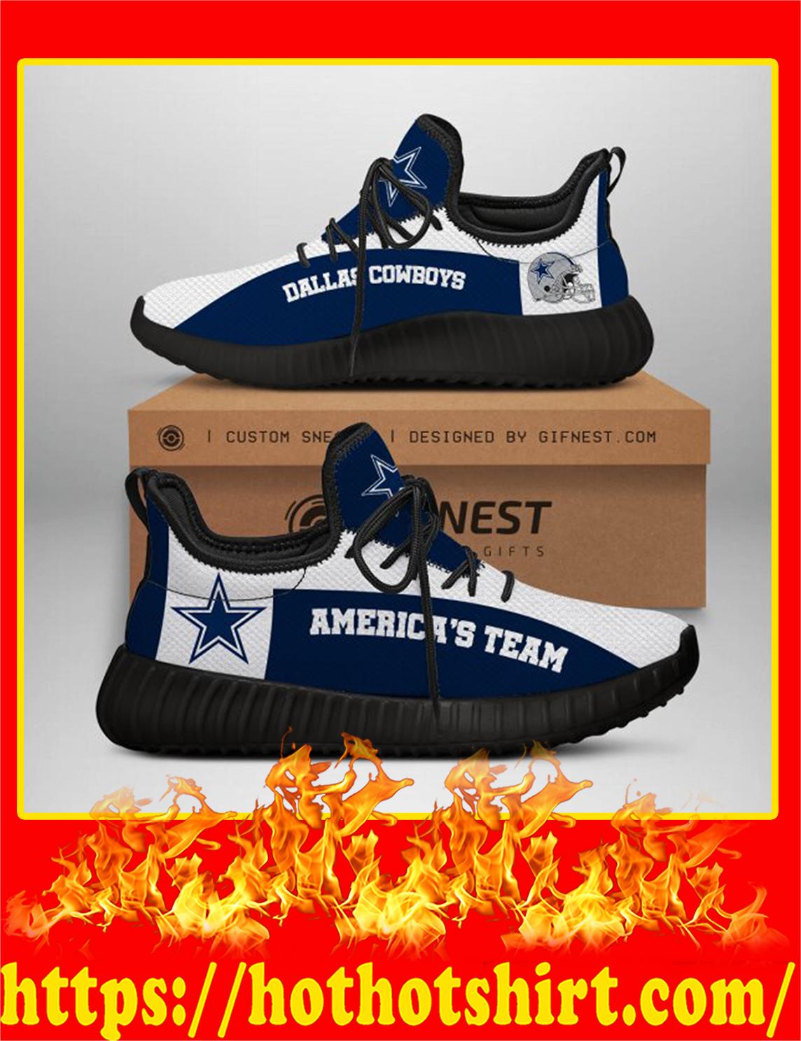 Dallas Cowboys America's Team NFL Yeezy Sneaker - Women