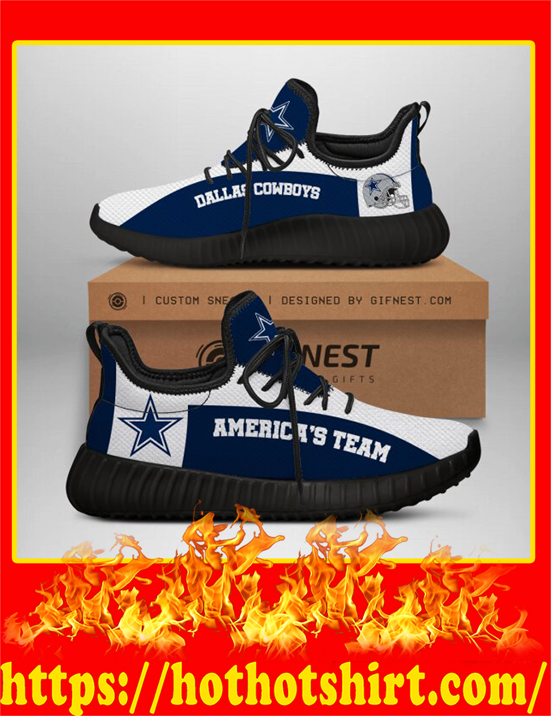Dallas Cowboys America's Team NFL Yeezy Sneaker