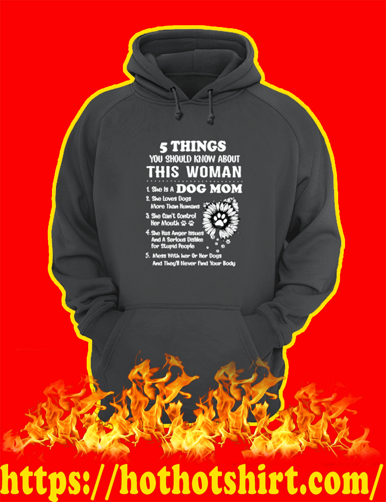 Dog Mom 5 Things You Should Know About This Woman hoodie