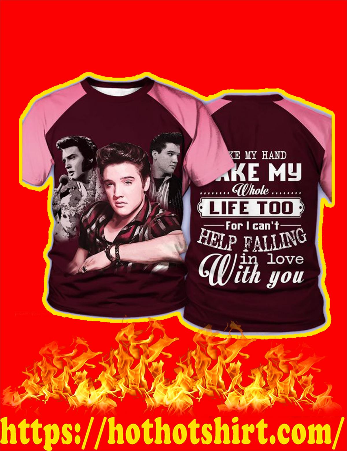 Elvis Presley Take My Hand 3D T-Shirt