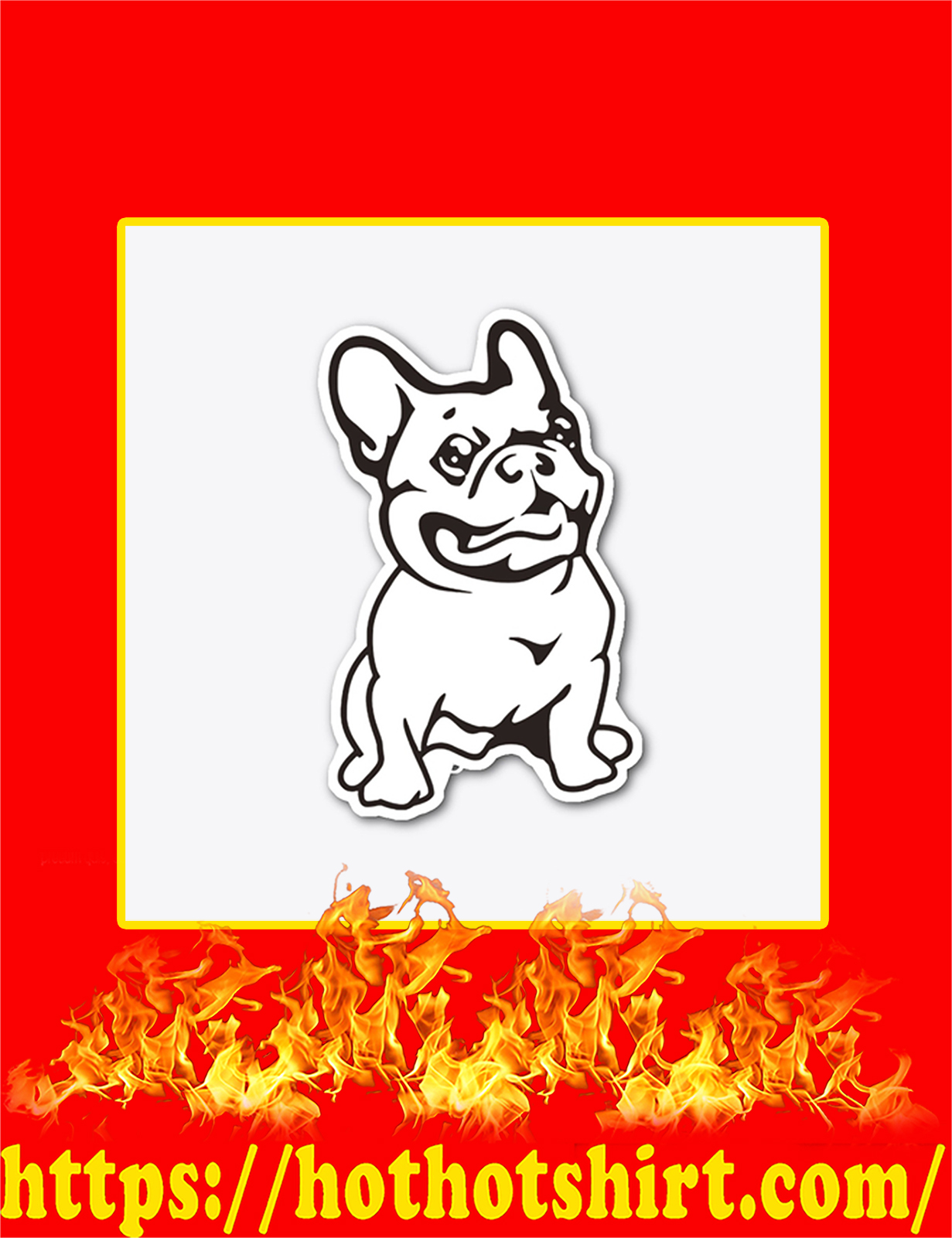 French Bulldog Sticker - Detail
