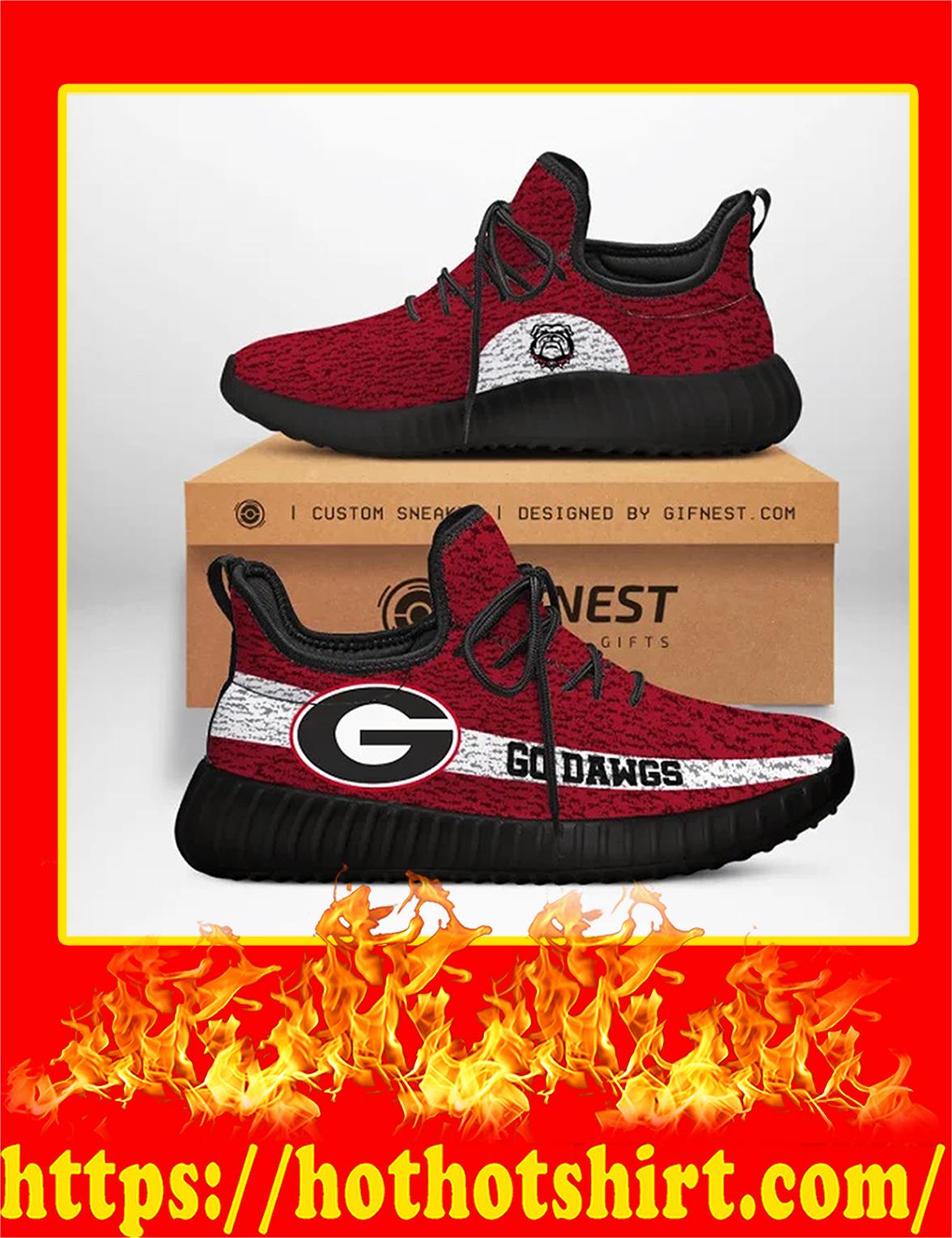Georgia Bulldogs Go Dawgs NCAA Yeezy Sneaker - Woman