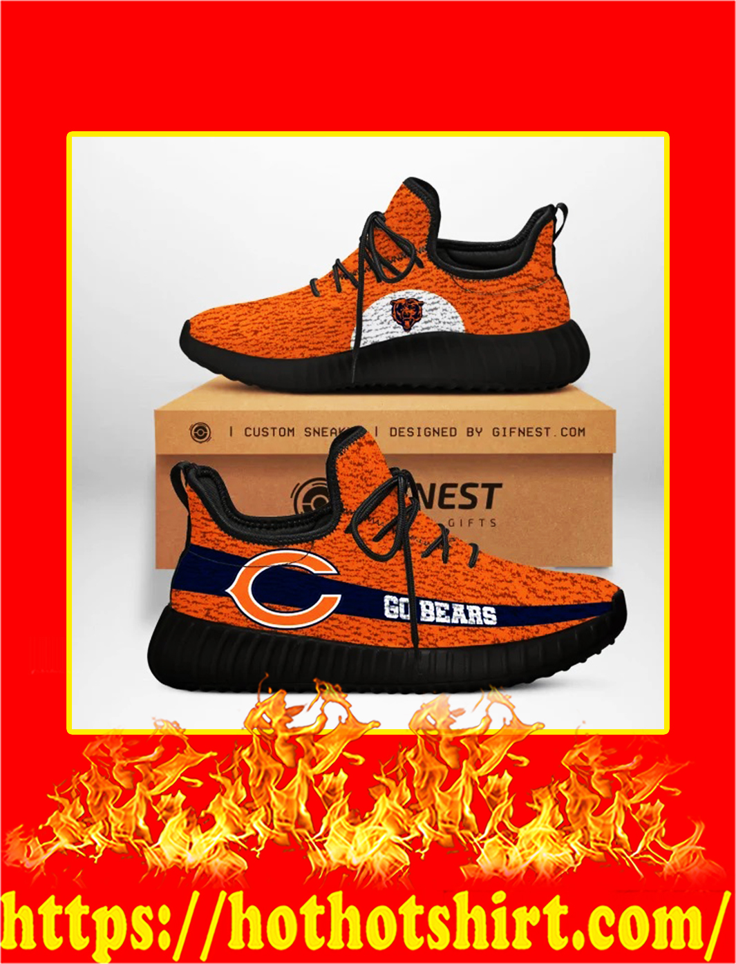 Go Bears Chicago Bears NFL Yeezy Sneaker