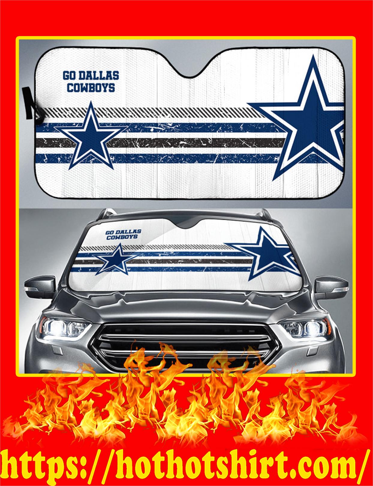 Go Dallas Cowboys Auto Sun Shade - Detail