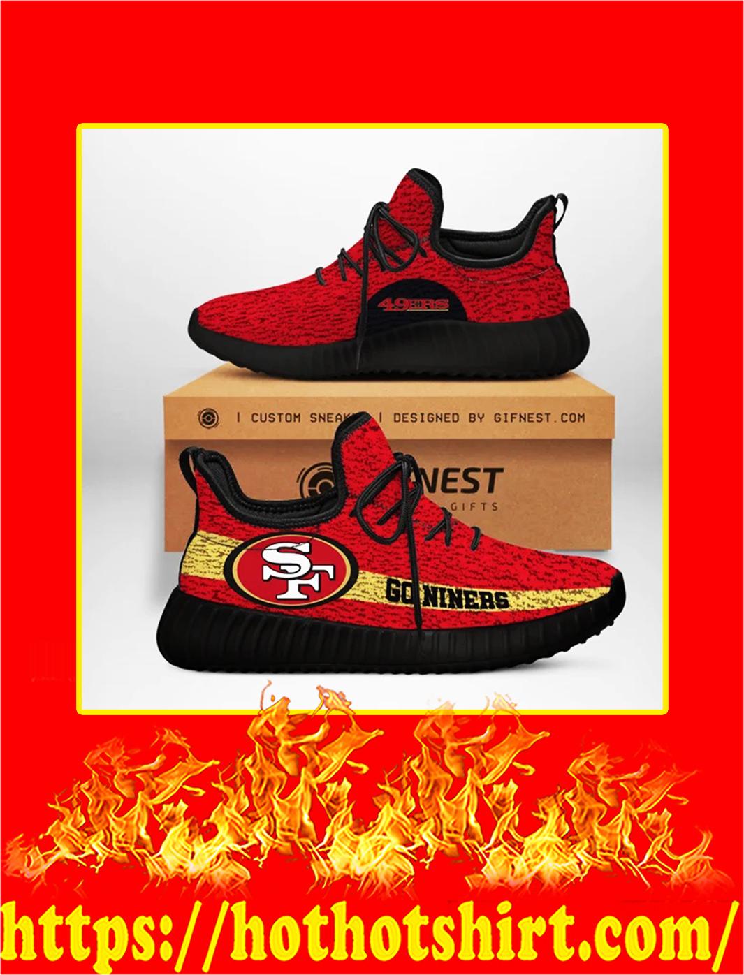 Go Niners San Francisco 49ers NFL Yeezy Sneaker- black