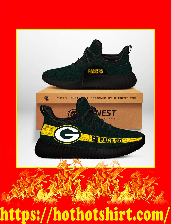 Go Pack Go Green Bay Packers NFL Yeezy Sneaker - black