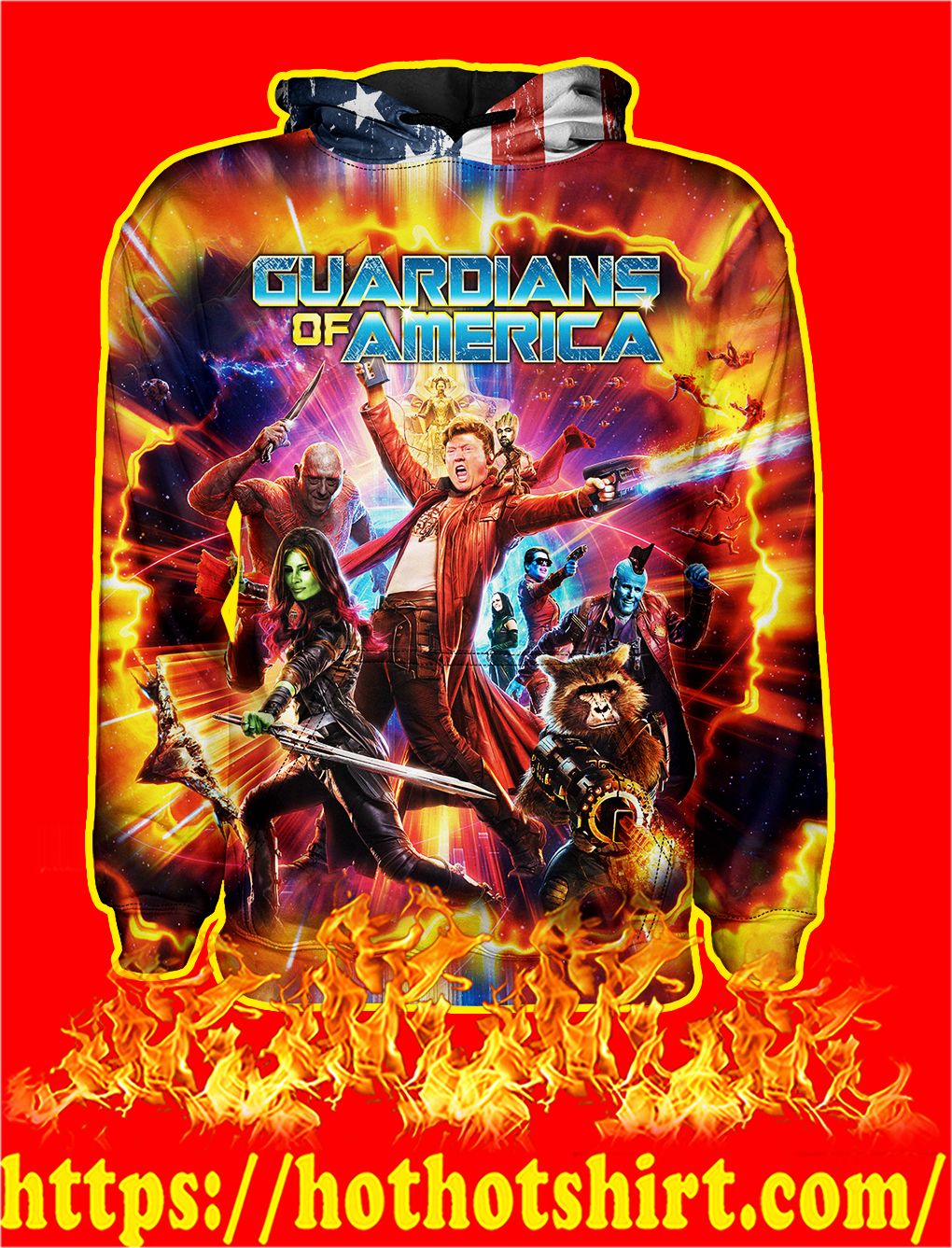 Guardians of America All Over Print Hoodie