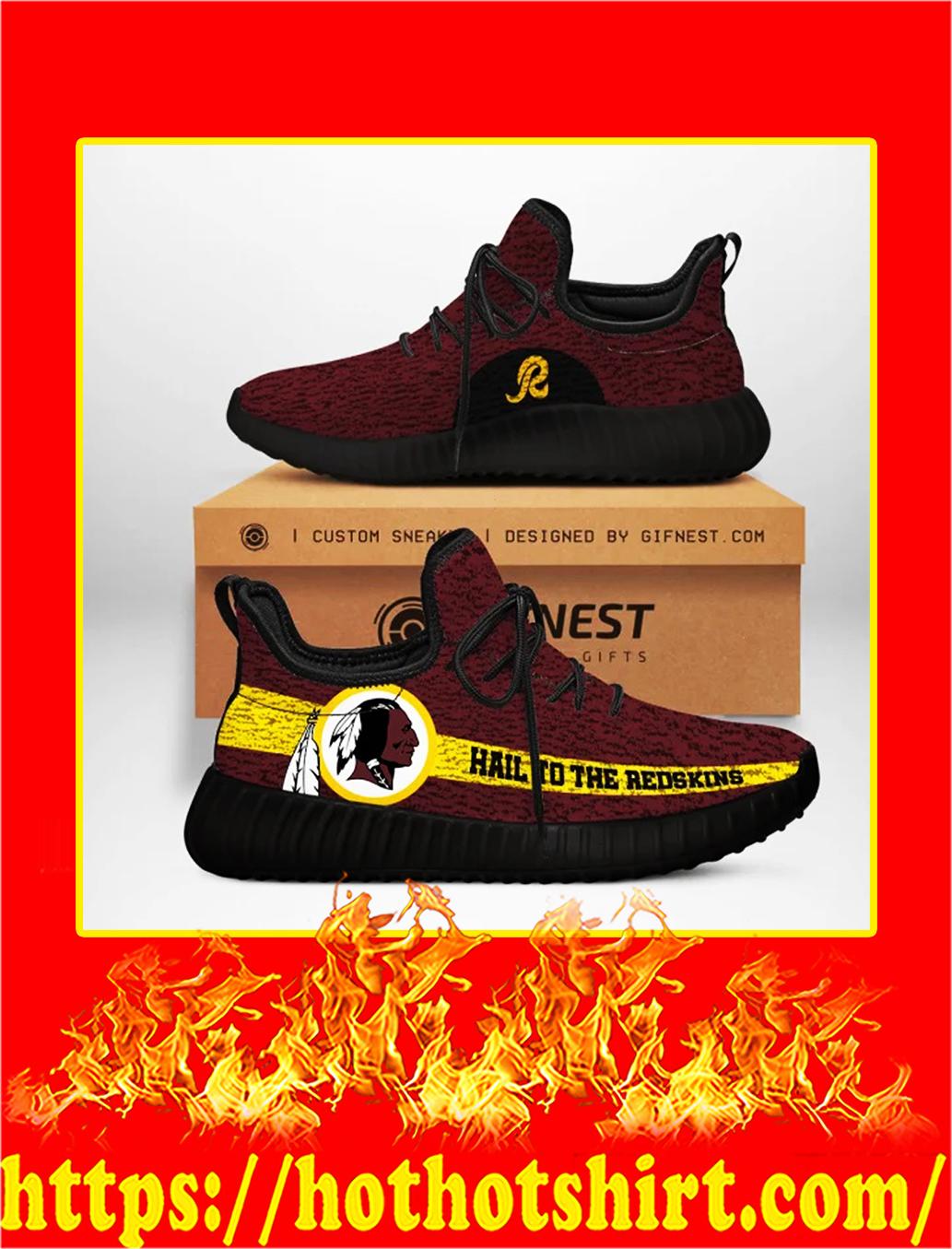 Hail To The Redskins Washington Redskins NFL Yeezy Sneaker - white