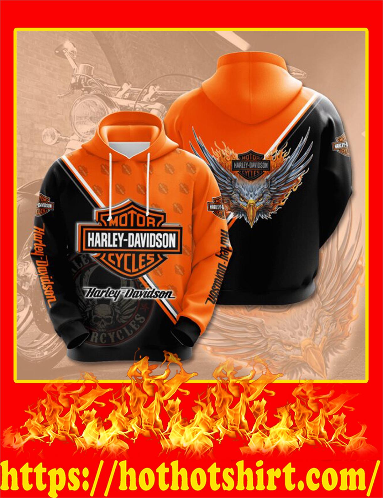 Harley Davidson Eagle 3D Hoodie - XL