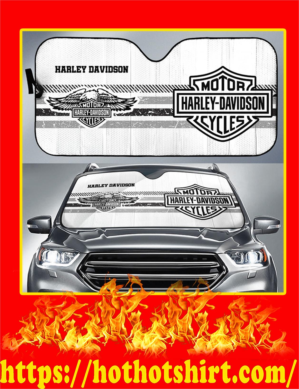 Harley Davidson Motorcycles Auto Sun Shade - Detail