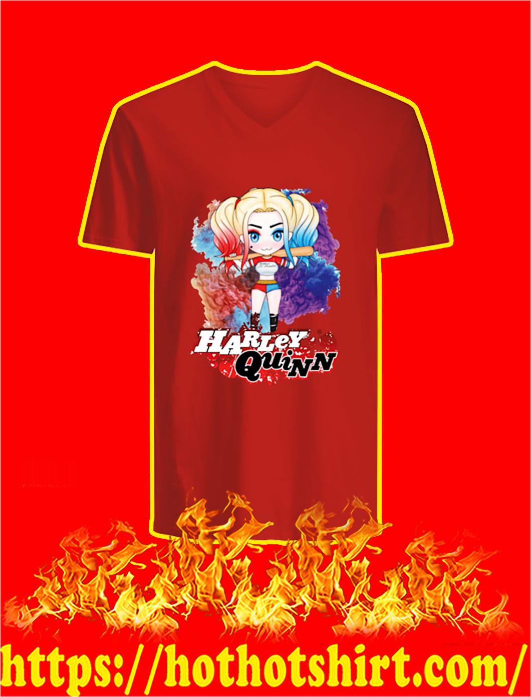 Harley Quinn Chibi v-neck