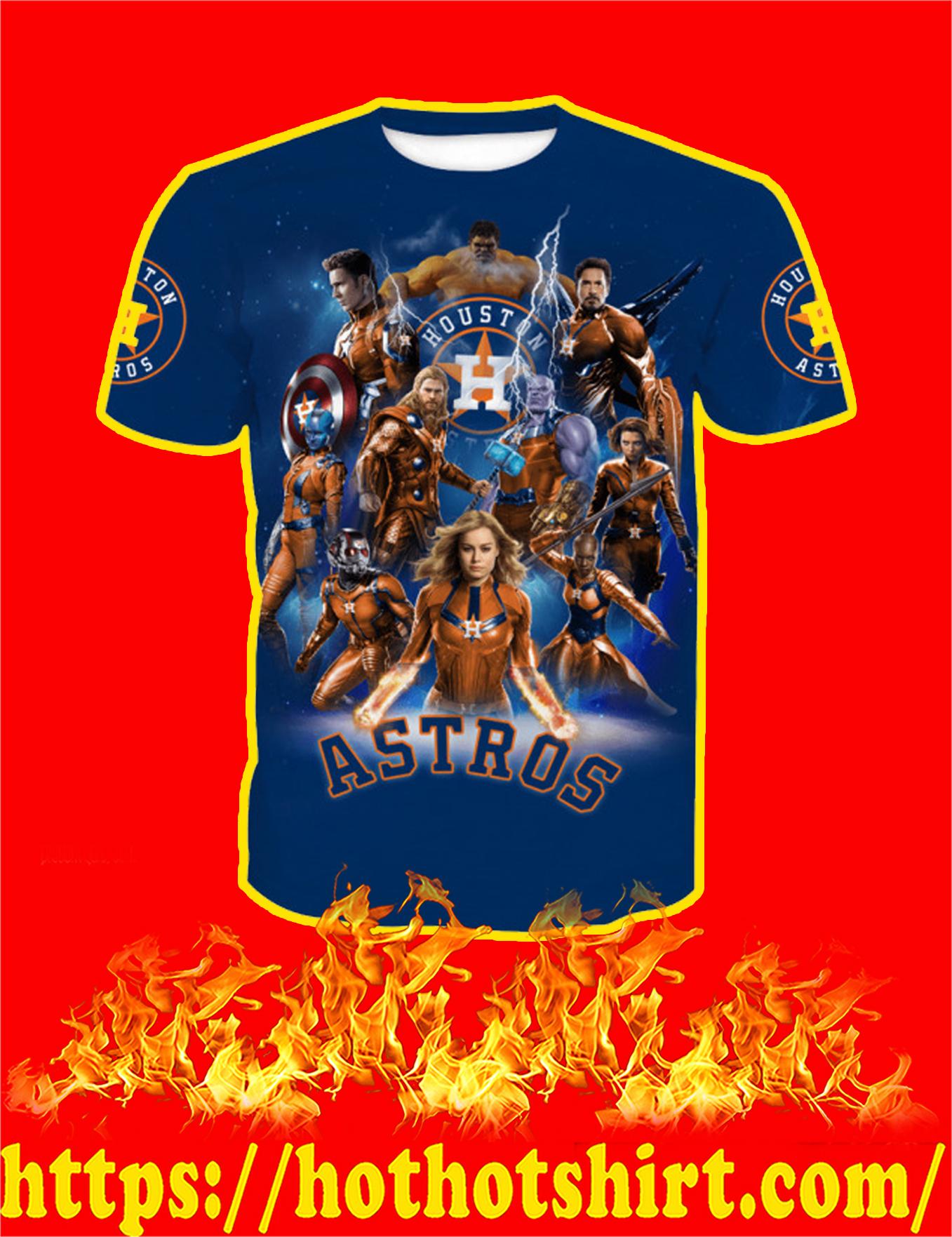 Houston Astros Avengers Endgame Full Over Print T-Shirt