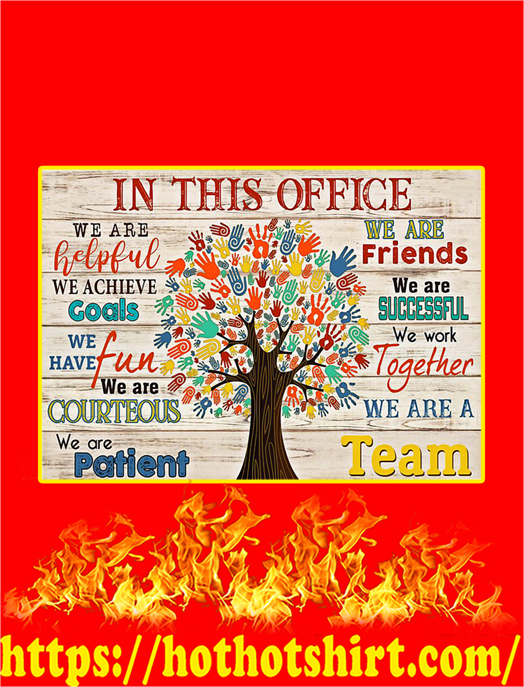 In This Office Social Worker Tree Poster - A1