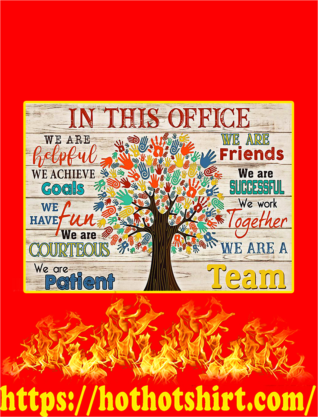 In This Office Social Worker Tree Poster - A4