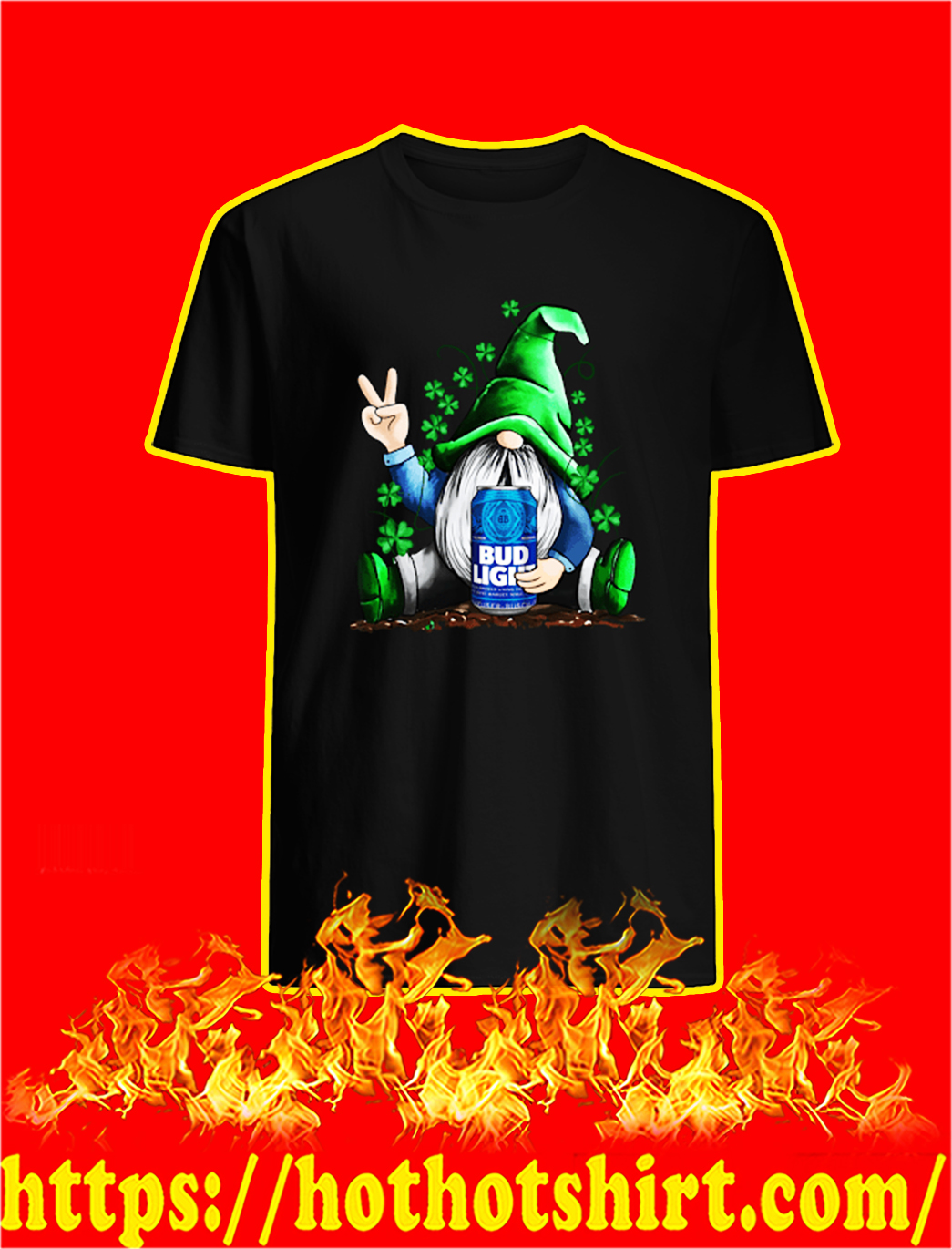 Irish Gnome Hug Bud Light St Patrick's Day shirt