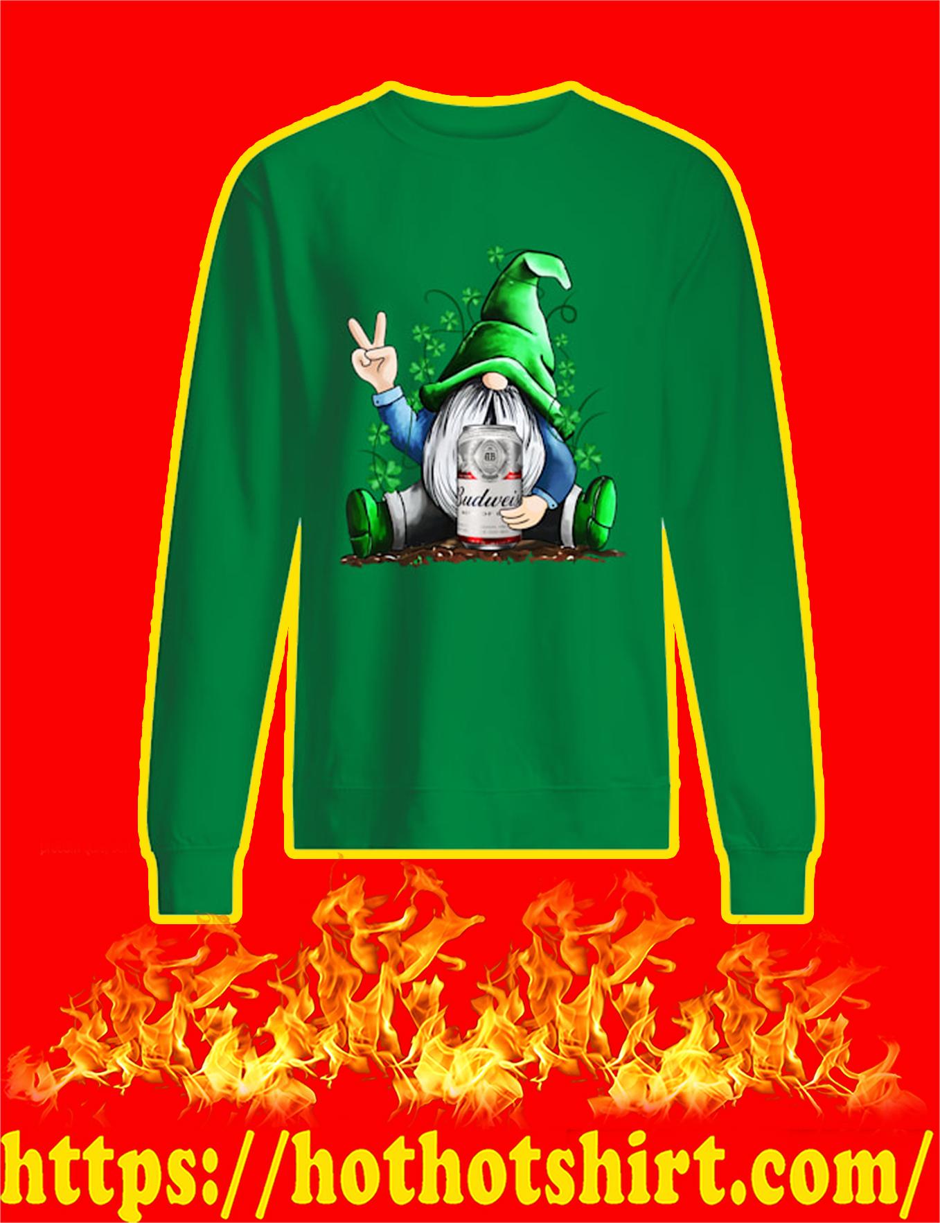 Irish Gnome Hug Budweiser St Patrick's Day Sweatshirt