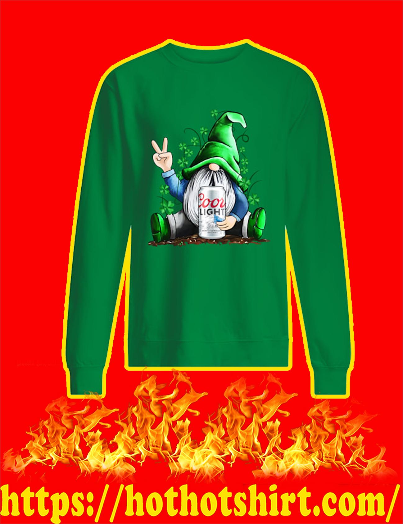 Irish Gnome Hug Coors Light St Patrick's Day Long Sleeved Shirt