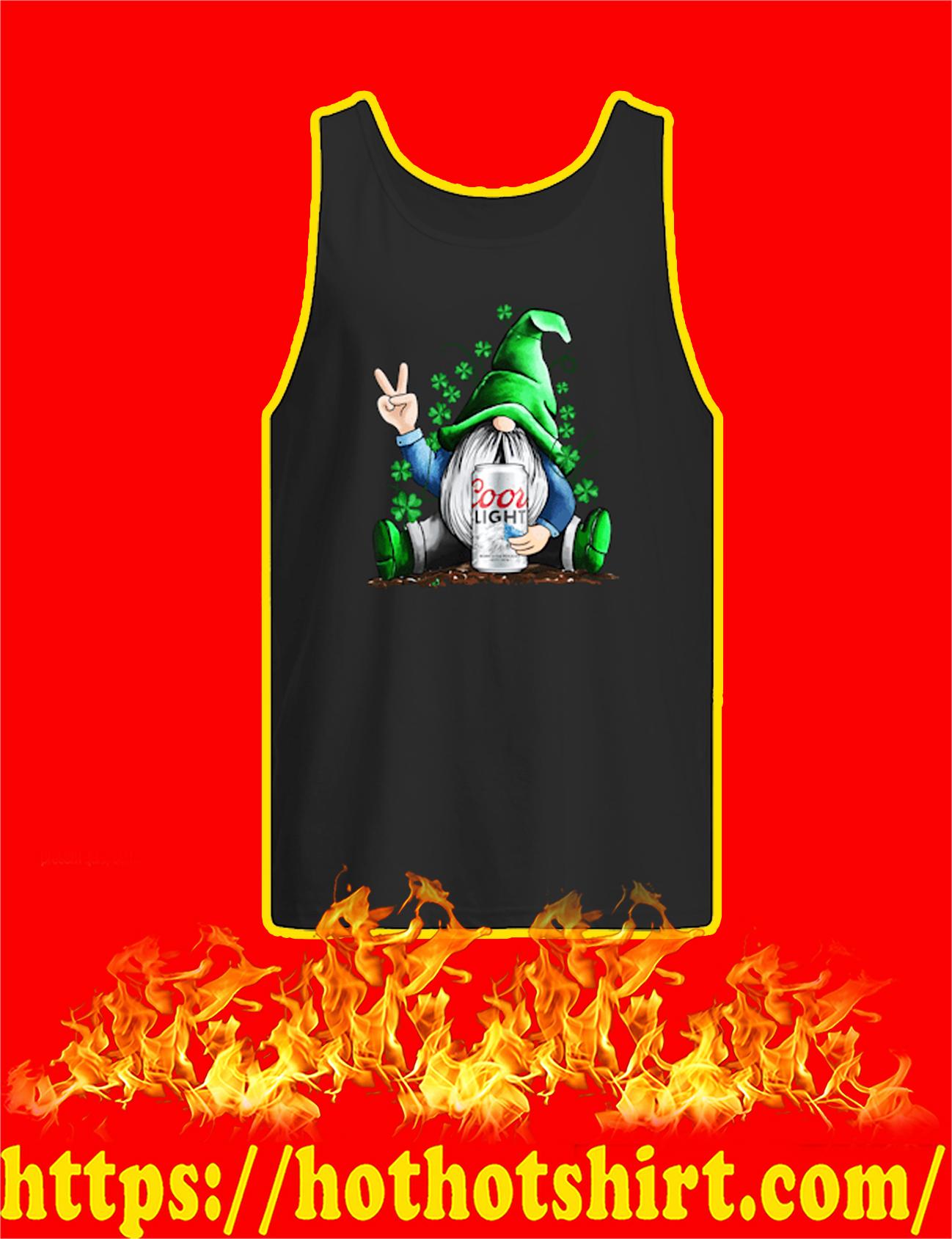 Irish Gnome Hug Coors Light St Patrick's Day Tank Top