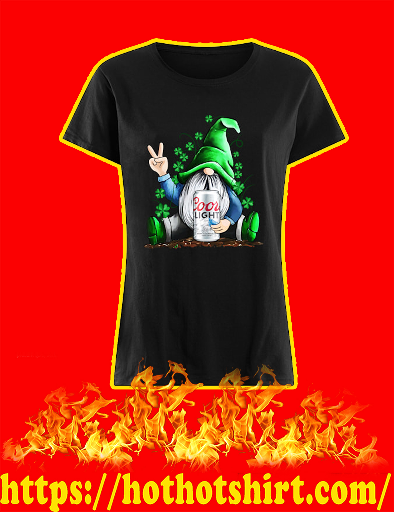Irish Gnome Hug Coors Light St Patrick's Day Women Shirt