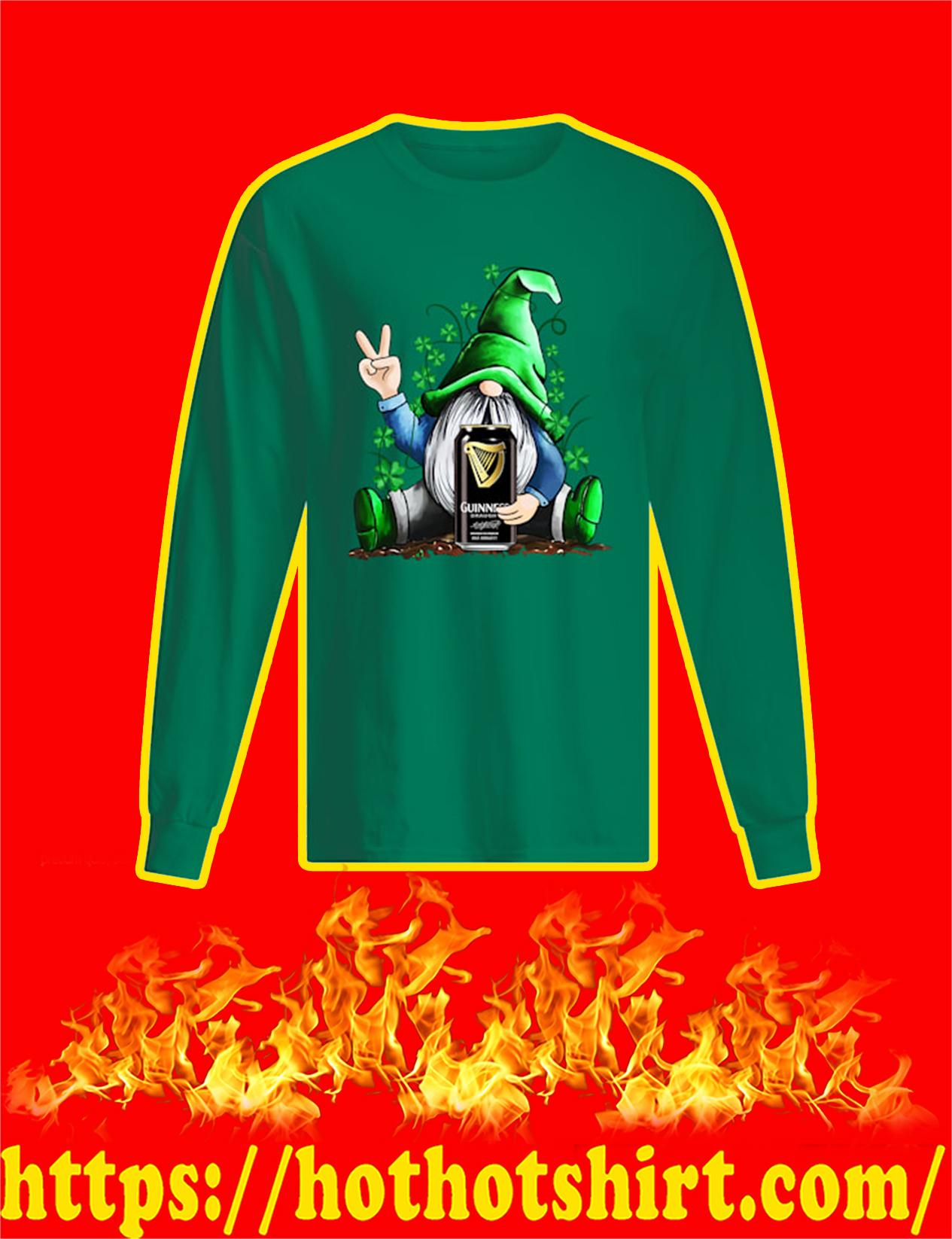 Irish Gnome Hug Guinness St Patrick's Day Long Sleeved Shirt