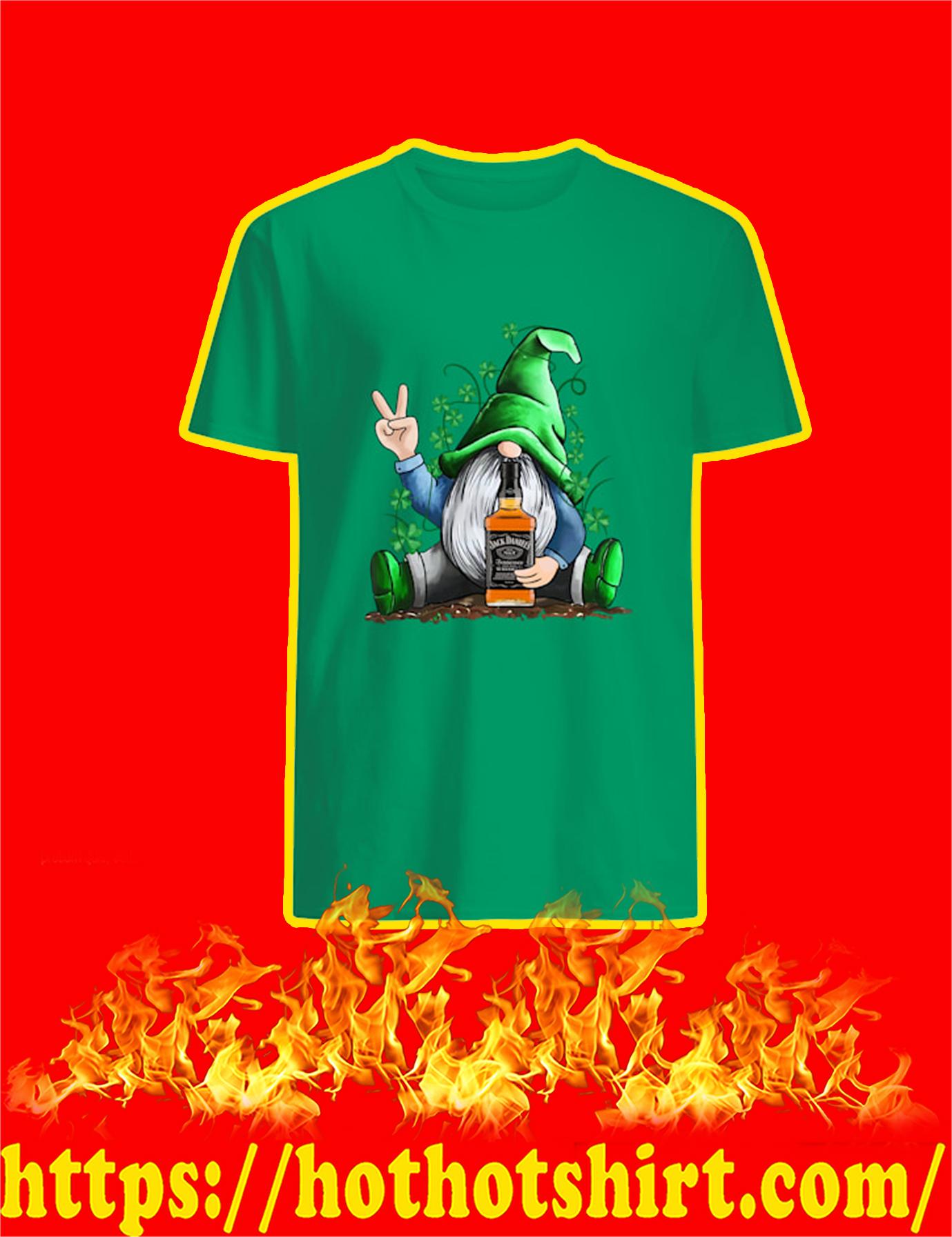 Irish Gnome Hug Jack Daniels St Patrick's Day Shirt