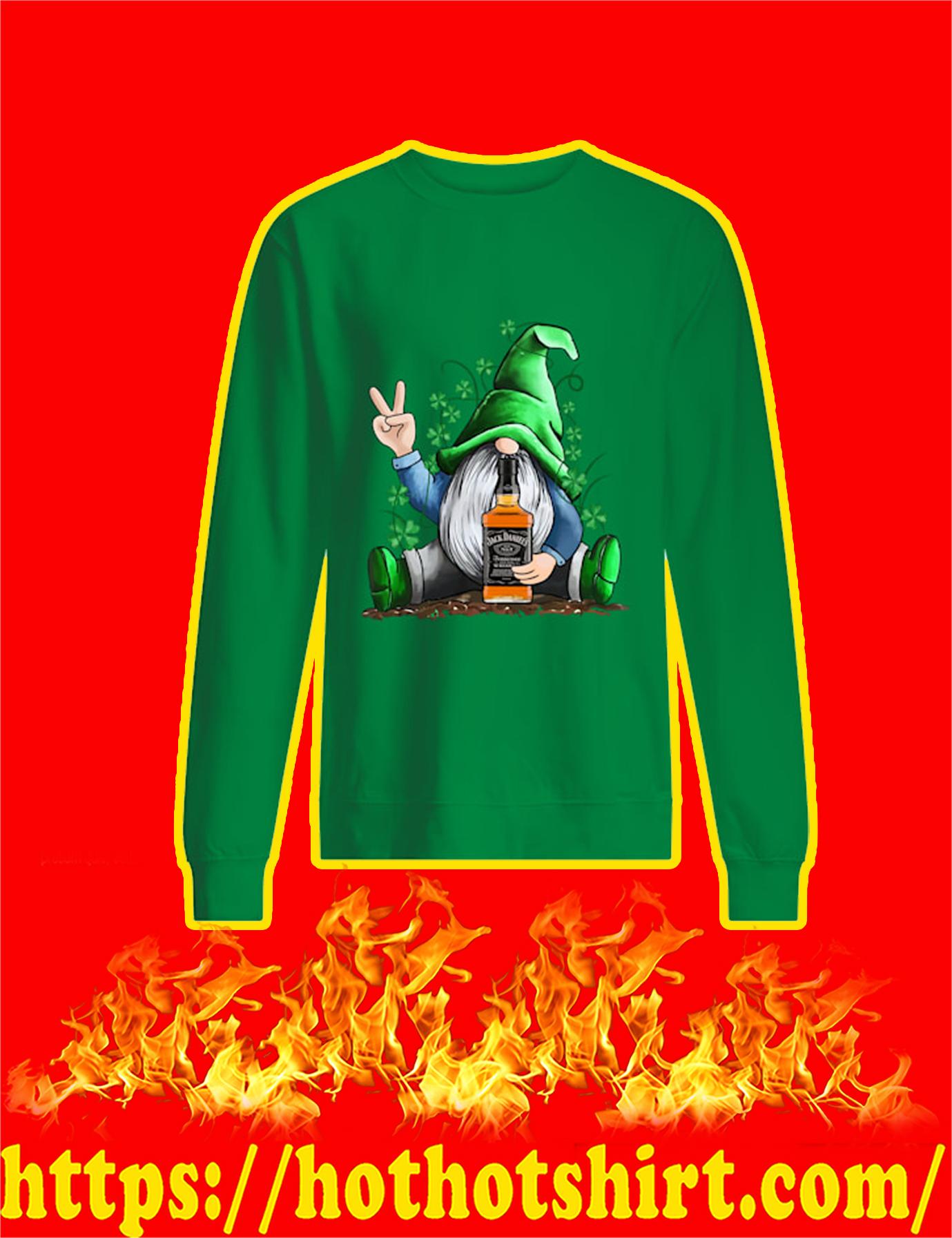 Irish Gnome Hug Jack Daniels St Patrick's Day Sweatshirt